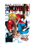 Wolverine No.10 Cover: Wolverine and Sabretooth Plastic Sign by John Buscema