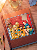 New X-Men: Academy X Yearbook Cover: Prodigy Plastic Sign by Aaron Lopresti