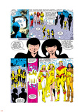 New Mutants Annual No.2 Group: Magik, Magma, Cannonball, Moonstar and New Mutants Plastic Sign by Alan Davis