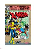 Dave Cockrum - Uncanny X-Men No.153 Cover: Shadowcat and Colossus Plastové cedule