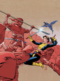 X-Men: Kitty Pryde- Shadow & Flame No.2 Cover: Shadowcat, Lockheed, Pryde and Kitty Wall Decal by Paul Smith