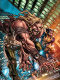 Weapon X: First Class No.1 Cover: Sabretooth and Wolverine Plastic Sign by Michael Ryan