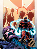 Civil War: House Of M No.1 Cover: Magneto and Sentinel Plastic Sign by Mike Perkins