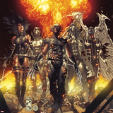 Fear Itself: Uncanny X-Force No.1 Cover: Wolverine, Psylocke, Fantomax, Archangel, and Deadpool Wall Decal by Simone Bianchi