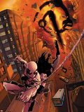 X-23 No.13 Cover: Spider-Man and X-23 Swinging Wall Decal by Kalman Andrasofszky
