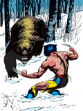 Classic X-Men No.25 Cover: Wolverine Swinging Plastic Sign by John Bolton