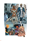 X-Men: Manifest Destiny No.2 Group: Storm, Angel and Emma Frost Plastic Sign by Michael Ryan