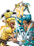 X-Force Volume 2 No.3 Cover: Shatterstar, Sunspot, Cable and X-Force Plastic Sign by Rob Liefeld