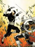 Daken: Dark Wolverine No.12 Cover: Daken and Task Master Fighting Wall Decal by Giuseppe Camuncoli