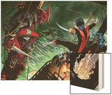 Amazing X-Men 1 Cover: Nightcrawler, Azazel, Storm, Northstar, Firestar, Wolverine, Iceman, Beast Wood Print by Ed McGuinness