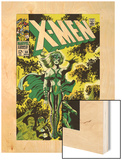 X-Men No.51 Cover: Dane, Lorna and X-Men Wood Print by Jim Steranko