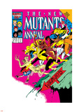 New Mutants Annual No.2 Cover: Magik Plastic Sign by Alan Davis