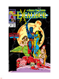 Excalibur No.16 Cover: Nightcrawler, Phoenix, Shadowcat and Kymri Wall Decal by Alan Davis