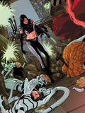 X-23 No.15 Cover: X-23, Mr. Fantastic, Spider-Man, Thing, Invisible Woman and Others Plastic Sign by Kalman Andrasofszky