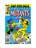 New Mutants Annual No.3 Cover: Impossible Man and Warlock Plastic Sign by Alan Davis