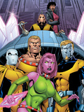 Exiles No.66 Cover: Blink, Sabretooth, Mimic, Morph and Exiles Plastic Sign by James Calafiore