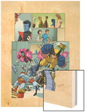 Uncanny X-Men: First Class Giant-Size Special No.1 Group: Wolverine Wood Print by Craig Rousseau