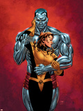Astonishing X-Men No.6 Cover: Colossus, Shadowcat, Pryde and Kitty Plastic Sign by John Cassaday