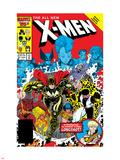 X-Men Annual No.10 Cover: Warlock, Sunspot, Wolfsbane and New Mutants Znaki plastikowe autor Arthur Adams