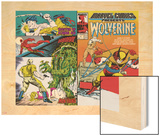 Marvel Comics Presents No.5 Cover: Wolverine, Inquisitor, Marvel Comics and Thor Charging Wood Print by John Buscema