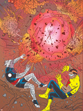 X-Statix No.26 Cover: Mr. Sensitive and The Anarchist Wall Decal by Michael Allred