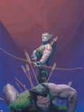 House Of M No.1 Cover: Hawkeye and Wolverine Plastic Sign by Esad Ribic