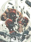 X-Men Unlimited No.4 Cover: Juggernaut Plastic Sign