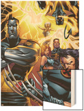 Ultimate X-Men No.50 Cover: Colossus, Wolverine, Nightcrawler, Grey, Jean, Cyclops, Storm and X-Men Wood Print by Andy Kubert