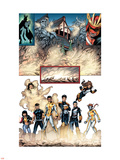 New X-Men No.19 Group: Prodigy, Hellion, Mercury, Wind Dancer, Dust, New Mutants and Hellions Plastic Sign by Aaron Lopresti