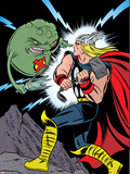 X-Statix No.25 Cover: Thor and Doop Plastic Sign by Michael Allred