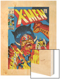 X-Men No.51 Cover: Erik The Red, Cyclops, Angel, Iceman and X-Men Wood Print by Arnold Drake