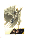 Fear Itself: Uncanny X-Force No.2: Watching Archangel Fly Wall Decal by Simone Bianchi