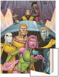 Exiles No.66 Cover: Blink, Sabretooth, Mimic, Morph and Exiles Wood Print by James Calafiore
