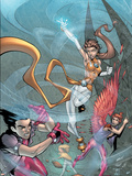 New X-Men No.4 Cover: Icarus, Wind Dancer and Hellion Plastic Sign by Randy Green