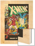 X-Men No.52 Cover: Erik The Red and X-Men Wood Print by Werner Roth