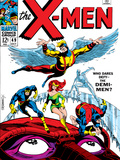 X-Men No.49 Cover: Angel, Iceman, Cyclops, Grey, Jean, Beast, X-Men and Marvel Girl Poster by Werner Roth