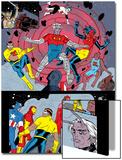 X-Statix No.25 Group: Mr. Sensitive, Vivisector, X-Statix and Avengers Prints by Michael Allred
