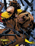 Wolverine: First Class No.8 Cover: Wolverine and Ursa Major Cartel de plástico por Michael Golden