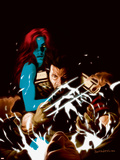 Wolverine No.35 Cover: Wolverine and Mystique Wall Decal