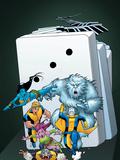 Exiles No.54 Cover: Morph, Sasquatch, Blink, Beak, Namora, Mimic and Exiles Print by Mizuki Sakakibara