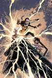 Ultimate Comics X-Men 31 Cover: Storm, Rogue, Pryde, Kitty Plastic Sign by Gabriel Hardman