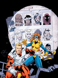 Alpha Flight No.9 Cover: Major Mapleleaf Wall Decal by Clayton Henry