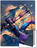 House Of M No.4 Cover: Hawkeye Prints by Brandon Peterson