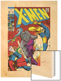 X-Men No.53 Cover: Cyclops and Blastaar Wood Print by Barry Windsor-Smith