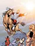 Alpha Flight No.5 Cover: Major Mapleleaf and Alpha Flight Wall Decal by Clayton Henry