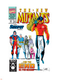 New Mutants No.99 Cover: Cable, Sunspot, Warpath, Cannonball, Domino, Boom Boom and New Mutants Plastic Sign by Rob Liefeld