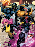 Secret Invasion: X-Men No.2 Cover: Pixie, Nightcrawler and Cyclops Plastic Sign by Terry Dodson