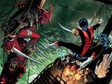 Amazing X-Men 1 Cover: Nightcrawler, Azazel, Storm, Northstar, Firestar, Wolverine, Iceman, Beast Plastic Sign by Ed McGuinness
