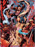 New X-Men No.19 Group: Hellion, Surge, Hellions and New Mutants Plastic Sign by Aaron Lopresti