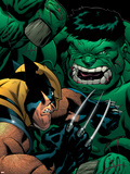 World War Hulk: X-Men No.2 Cover: Wolverine and Hulk Plastic Sign by Ed McGuinness